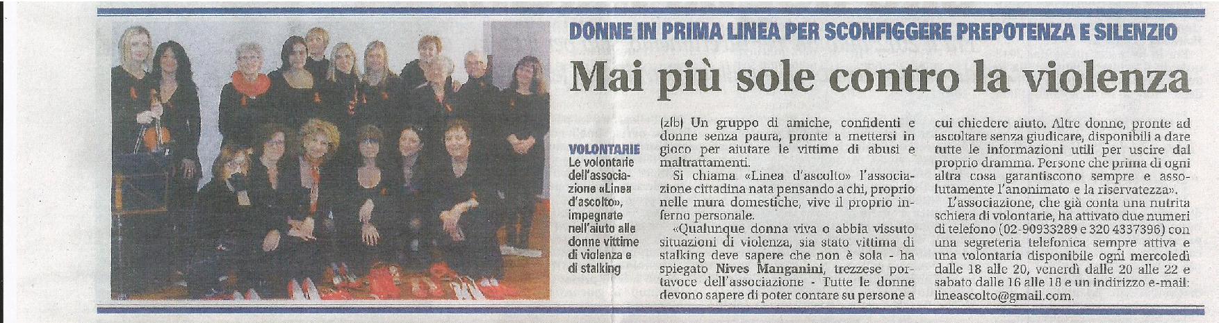 """Dalla """"Gazzetta della Martesana"""" 25 novembre 2013"""