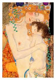 klimt mother & baby