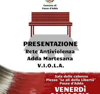 31 maggio a Pozzo d'Adda – Presentazione Rete Antiviolenza V.I.O.L.A.
