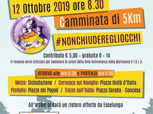 12 ottobre 2019 CAMMINATA CONTRO LA VIOLENZA DI GENERE: 28 Comuni insieme
