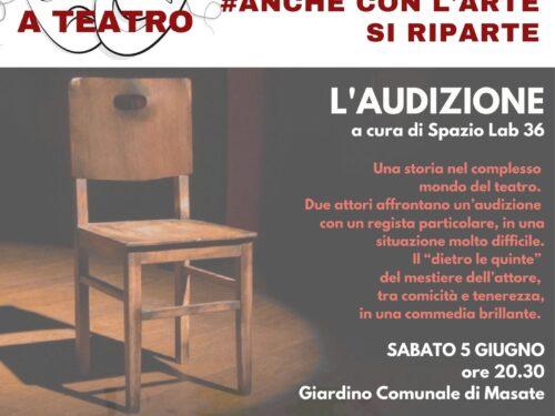 """""""L'AUDIZIONE"""""""" spettacolo teatrale nel progetto ESERCIZI DI CITTADINANZA"""