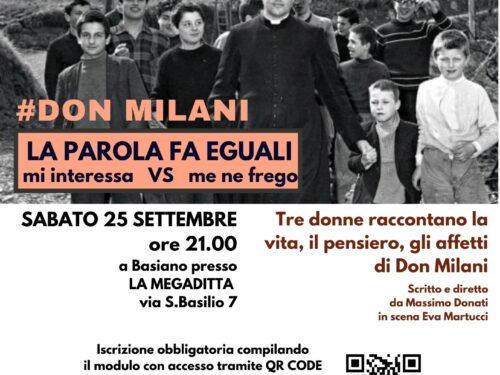 #DON MILANI – LA PAROLA FA EGUALI spettacolo teatrale del progetto ESERCIZI DI CITTADINANZA – Sabato 25 settembre a Basiano (MI)